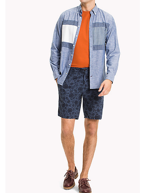 TOMMY HILFIGER Straight Fit Printed Shorts - VINTAGE INDIGO - TOMMY HILFIGER Clothing - main image