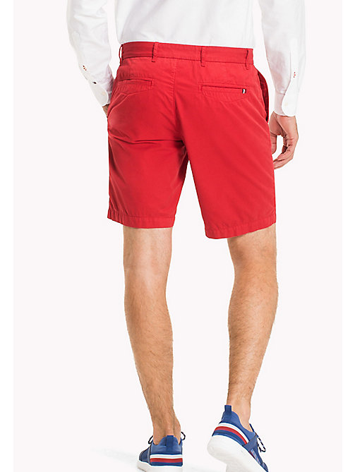 TOMMY HILFIGER Regular Pima Cotton Shorts - HAUTE RED - TOMMY HILFIGER Shorts - detail image 1