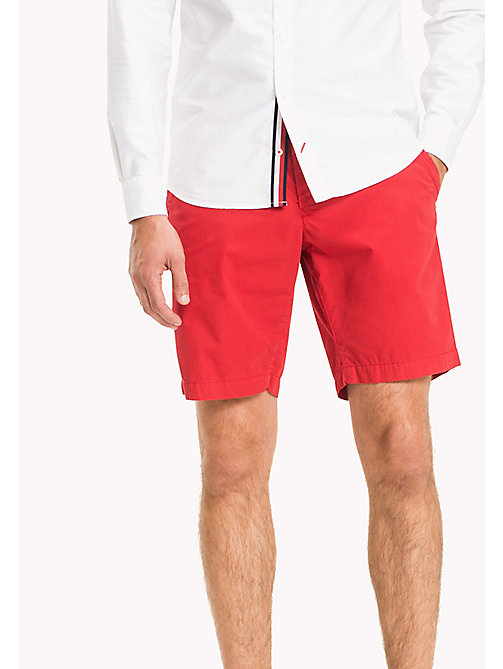 TOMMY HILFIGER Regular Pima Cotton Shorts - HAUTE RED - TOMMY HILFIGER Shorts - main image