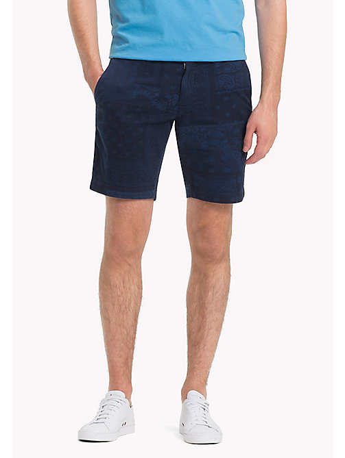 TOMMY HILFIGER Bandana Regular Fit Shorts - NAVY BLAZER - TOMMY HILFIGER Vacation Style - main image