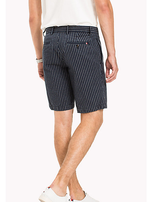 TOMMY HILFIGER Stripe Regular Fit Shorts - INDIGO - TOMMY HILFIGER Shorts - detail image 1