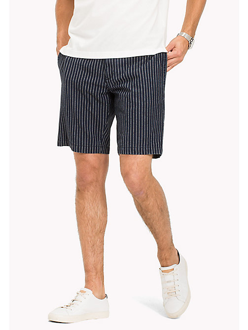 TOMMY HILFIGER Stripe Regular Fit Shorts - INDIGO - TOMMY HILFIGER Shorts - main image