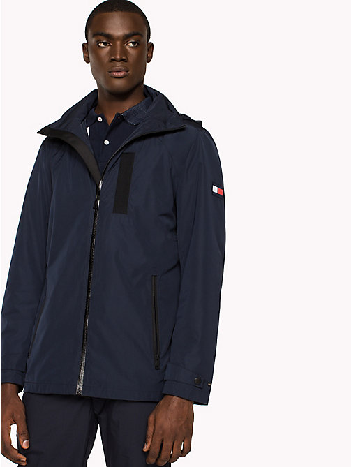 TOMMY HILFIGER Regular Fit Hooded Jacket - SKY CAPTAIN - TOMMY HILFIGER Jackets - main image