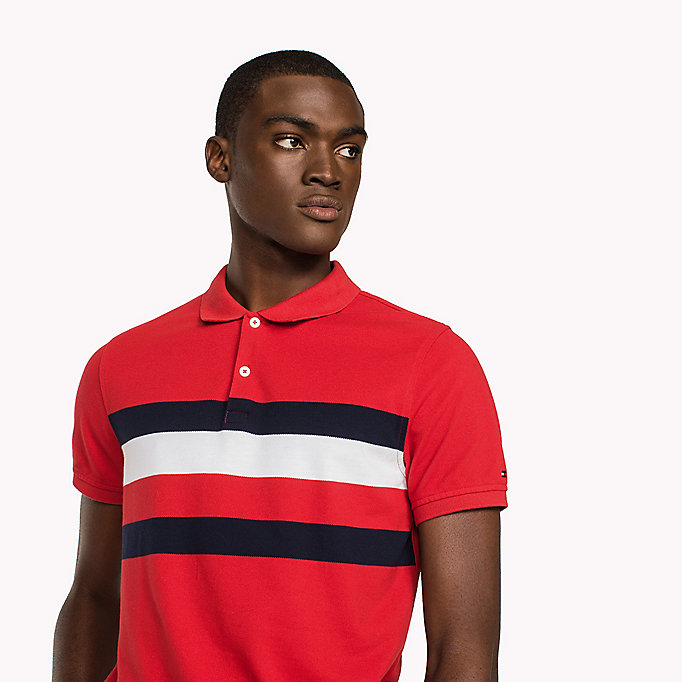 TOMMY HILFIGER Chest Stripe Slim Fit Polo Shirt - SODALITE BLUE / MULTI - TOMMY HILFIGER Clothing - detail image 2