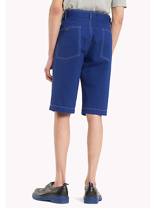 HILFIGER COLLECTION Bermuda stile workwear con cuciture a contrasto - SURF THE WEB - HILFIGER COLLECTION HILFIGER COLLECTION - dettaglio immagine 1