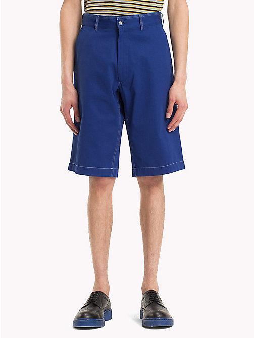 HILFIGER COLLECTION Workwear short met contrasterend stiksel - SURF THE WEB - HILFIGER COLLECTION HILFIGER COLLECTION - main image