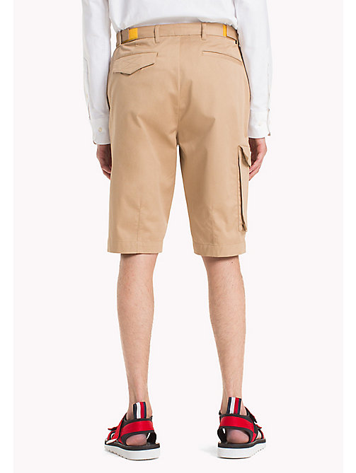 HILFIGER COLLECTION Leg Pocket Cotton Shorts - TIGER'S EYE - HILFIGER COLLECTION Trousers & Shorts - detail image 1