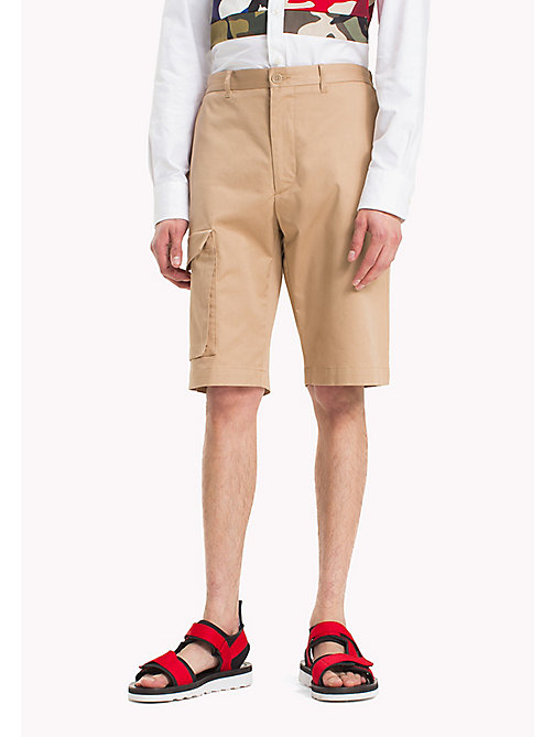 HILFIGER COLLECTION Leg Pocket Cotton Shorts - TIGER'S EYE - HILFIGER COLLECTION Trousers & Shorts - main image