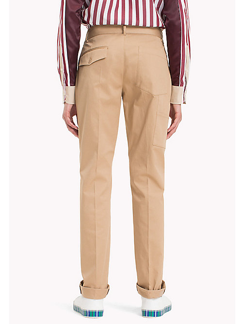 HILFIGER COLLECTION Slim fit chino met formal fit - TIGER'S EYE - HILFIGER COLLECTION HILFIGER COLLECTION - detail image 1
