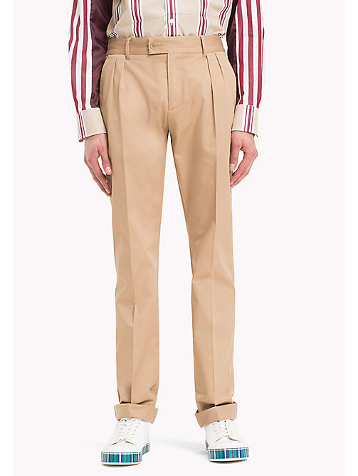 HILFIGER COLLECTION Slim Fitdressy Chino - TIGER'S EYE - HILFIGER COLLECTION Clothing - main image