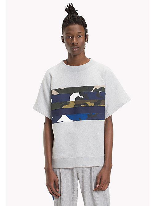 HILFIGER COLLECTION Stripe Oversized T-Shirt - CLOUD HTR - HILFIGER COLLECTION Clothing - main image