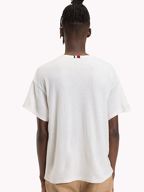 HILFIGER COLLECTION Graphic Flag Print T-Shirt - BRIGHT WHITE - HILFIGER COLLECTION TOMMY'S PADDOCK - detail image 1