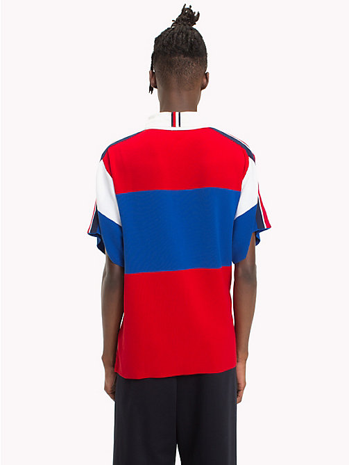 HILFIGER COLLECTION Oversized rugbyshirt met korte mouwen - BARBADOS CHERRY - HILFIGER COLLECTION HILFIGER COLLECTION - detail image 1