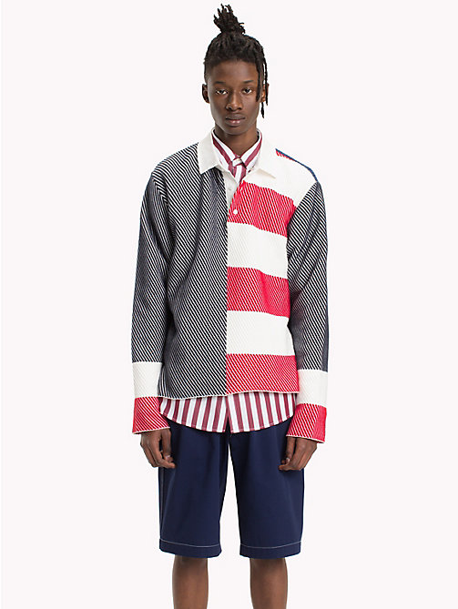 HILFIGER COLLECTION Colour-block twill rugbyshirt - SURF THE WEB - HILFIGER COLLECTION HILFIGER COLLECTION - main image