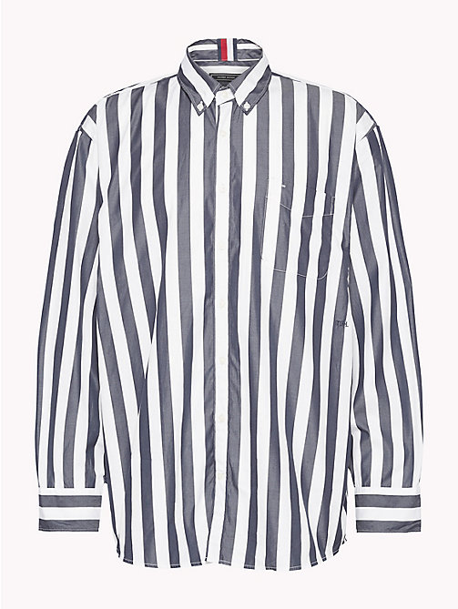 HILFIGER COLLECTION Camicia oversize a righe banker - SKY CAPTAIN / BRIGHT WHITE - HILFIGER COLLECTION HILFIGER COLLECTION - immagine principale