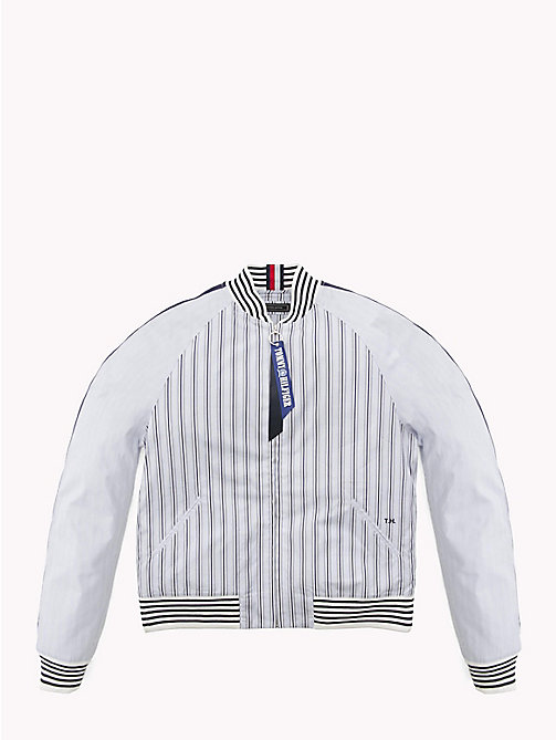 HILFIGER COLLECTION Stripe Bomber Shirt Jacket - EVENTIDE / ASTRAL AURA / BW - HILFIGER COLLECTION Hilfiger Collection - imagen principal