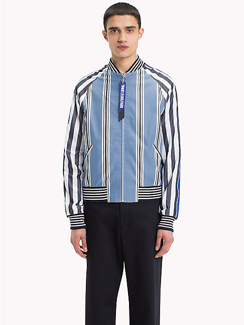 HILFIGER COLLECTION Stripe Bomber Shirt Jacket - MOONLIGHT BLUE / JET BLACK / BW - HILFIGER COLLECTION Hilfiger Collection - imagen detallada 1