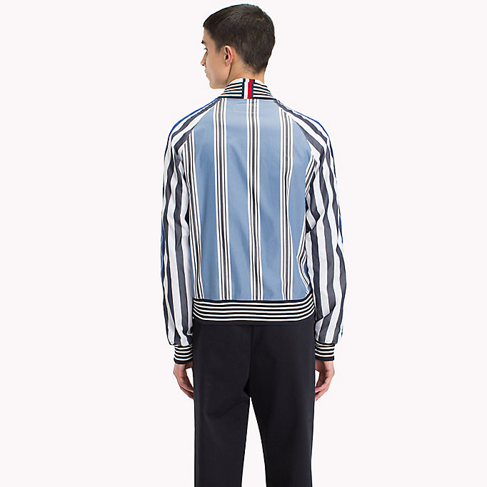 HILFIGER COLLECTION Gestreept bomber shirt-jack - EVENTIDE / ASTRAL AURA / BW - HILFIGER COLLECTION Heren - detail image 2