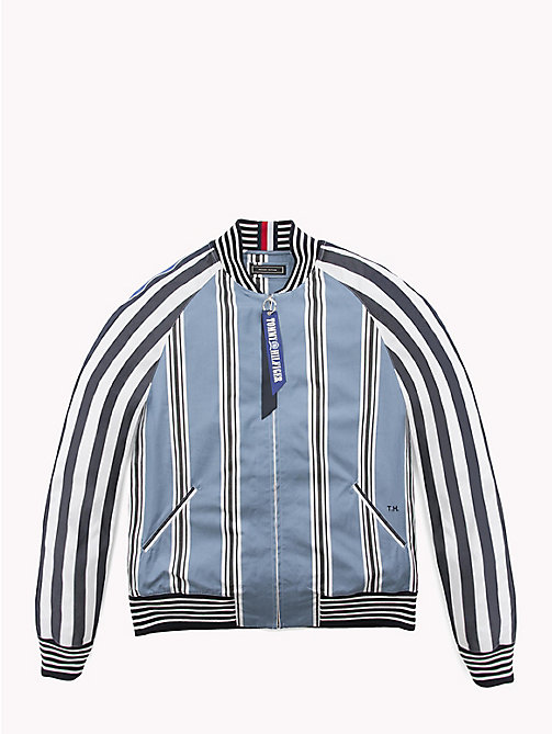 HILFIGER COLLECTION Stripe Bomber Shirt Jacket - MOONLIGHT BLUE / JET BLACK / BW - HILFIGER COLLECTION Hilfiger Collection - main image