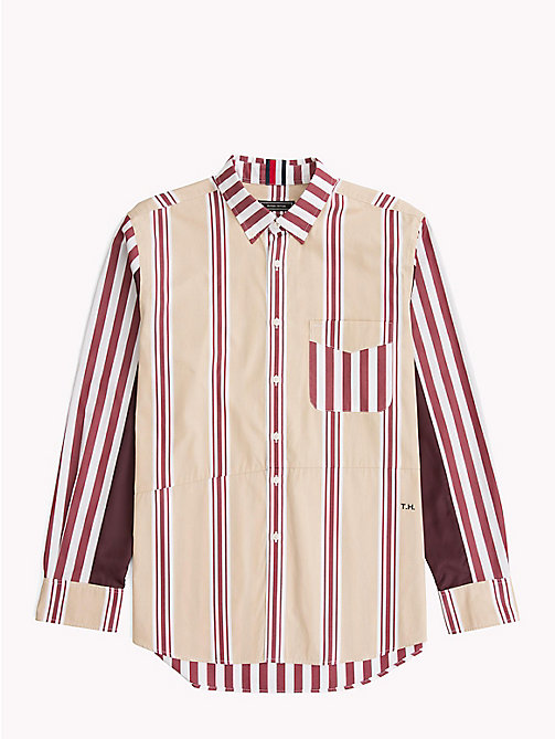 HILFIGER COLLECTION Camicia in cotone a righe miste - POMEGRANATE / MULTI - HILFIGER COLLECTION Hilfiger Collection - immagine principale