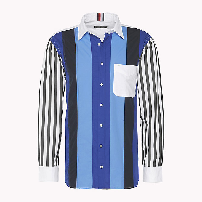 HILFIGER COLLECTION Contrast Sleeve Stripe Shirt - DUFFEL BAG / MULTI - HILFIGER COLLECTION Men - main image