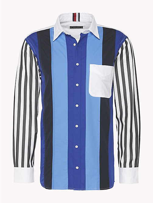 HILFIGER COLLECTION Contrast Sleeve Stripe Shirt - SKY CAPTAIN / MULTI - HILFIGER COLLECTION HILFIGER COLLECTION - main image