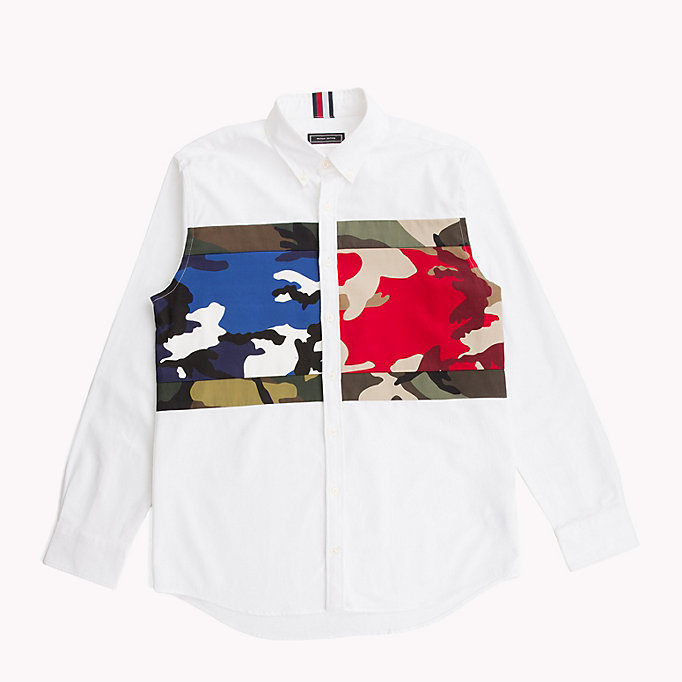 HILFIGER COLLECTION Camouflage Print Flag Shirt - EVENTIDE / MULTI - HILFIGER COLLECTION Men - main image