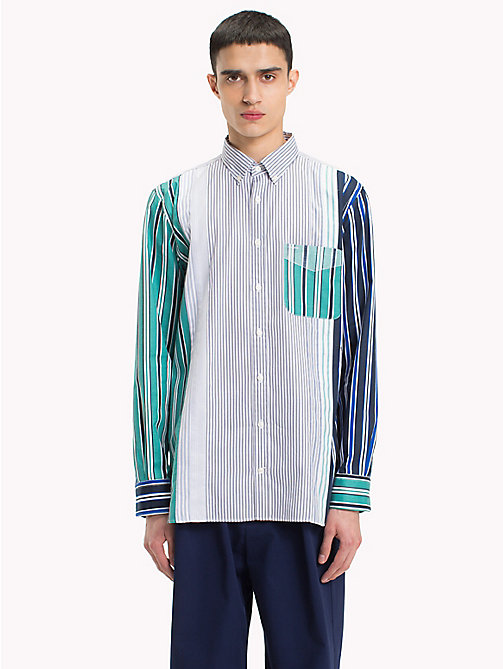 HILFIGER COLLECTION Camicia button down a righe miste - GREEN BLUE SLATE / EVENTIDE / MULTI - HILFIGER COLLECTION HILFIGER COLLECTION - dettaglio immagine 1
