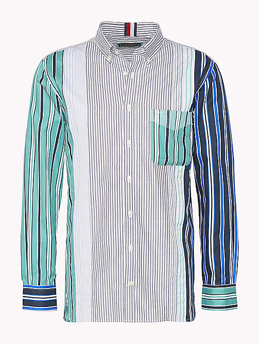 HILFIGER COLLECTION Camicia button down a righe miste - GREEN BLUE SLATE / EVENTIDE / MULTI - HILFIGER COLLECTION HILFIGER COLLECTION - immagine principale