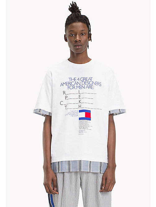 HILFIGER COLLECTION Billboard print T-shirt - BRIGHT WHITE - HILFIGER COLLECTION HILFIGER COLLECTION - main image
