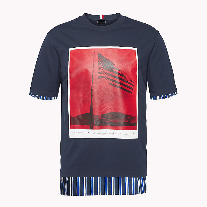HILFIGER COLLECTION Billboard Print T-Shirt - BRIGHT WHITE - HILFIGER COLLECTION Men - detail image 4