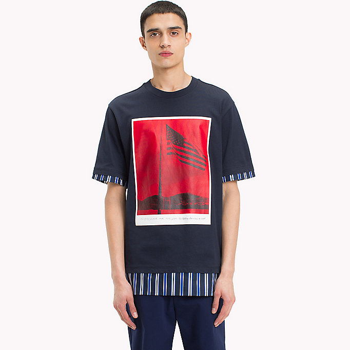 HILFIGER COLLECTION Billboard Print T-Shirt - BRIGHT WHITE - HILFIGER COLLECTION Men - main image