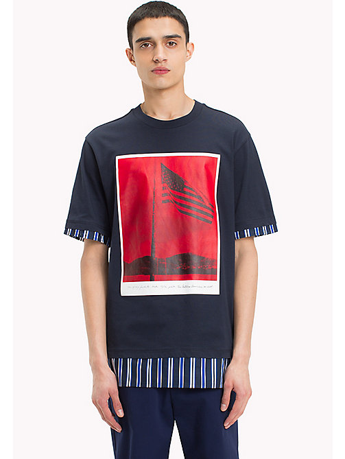 HILFIGER COLLECTION Billboard Print T-Shirt - SKY CAPTAIN - HILFIGER COLLECTION HILFIGER COLLECTION - main image