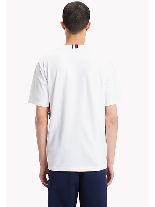 HILFIGER COLLECTION T-shirt con bandiera patchwork - BRIGHT WHITE - HILFIGER COLLECTION Hilfiger Collection - dettaglio immagine 1