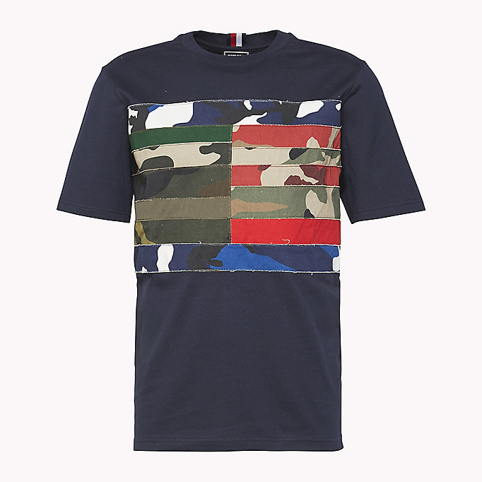 HILFIGER COLLECTION Patchwork Flag T-Shirt - BRIGHT WHITE - HILFIGER COLLECTION Clothing - detail image 4