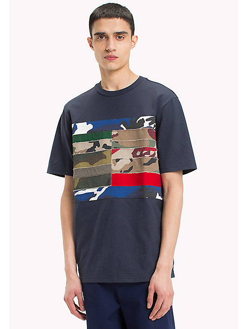 HILFIGER COLLECTION T-shirt con bandiera patchwork - SKY CAPTAIN - HILFIGER COLLECTION HILFIGER COLLECTION - immagine principale