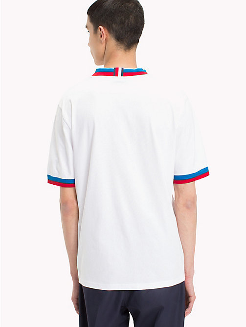 HILFIGER COLLECTION Ribbed Stripe Ringer T-Shirt - BRIGHT WHITE - HILFIGER COLLECTION HILFIGER COLLECTION - detail image 1