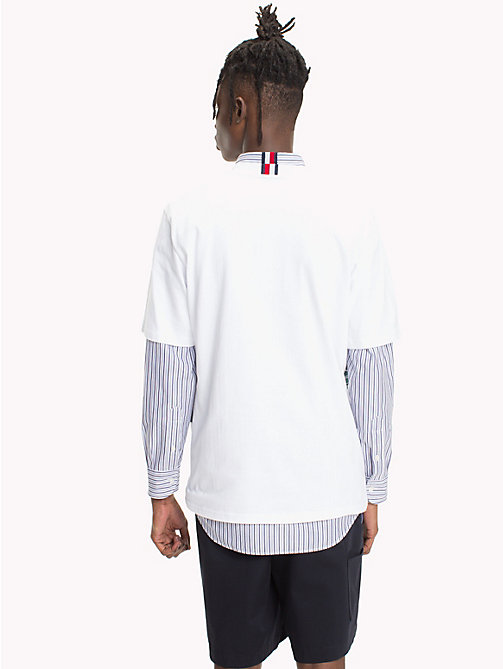 HILFIGER COLLECTION T-shirt in cotone con inserti a righe - BRIGHT WHITE - HILFIGER COLLECTION Hilfiger Collection - dettaglio immagine 1