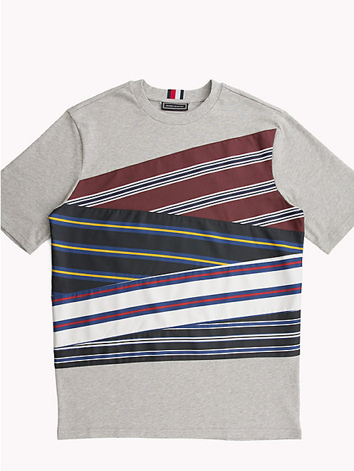 HILFIGER COLLECTION T-shirt in cotone con inserti a righe - BRIGHT WHITE - HILFIGER COLLECTION HILFIGER COLLECTION - immagine principale