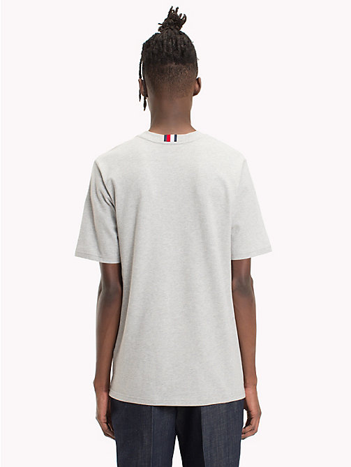 HILFIGER COLLECTION T-shirt in cotone con inserti a righe - CLOUD HTR - HILFIGER COLLECTION HILFIGER COLLECTION - dettaglio immagine 1