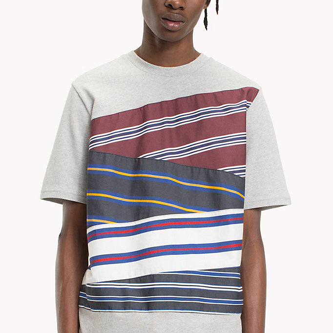 HILFIGER COLLECTION Cotton Inserted Stripe T-Shirt - BRIGHT WHITE - HILFIGER COLLECTION Men - detail image 3