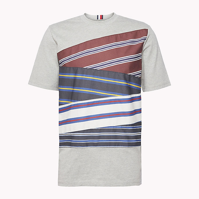 HILFIGER COLLECTION Cotton Inserted Stripe T-Shirt - BRIGHT WHITE - HILFIGER COLLECTION Men - detail image 4