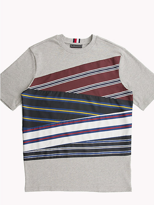 HILFIGER COLLECTION T-shirt in cotone con inserti a righe - CLOUD HTR - HILFIGER COLLECTION HILFIGER COLLECTION - immagine principale
