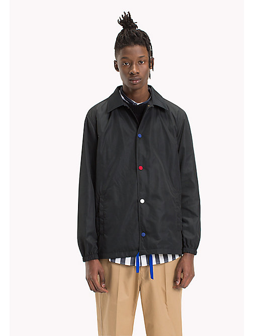 HILFIGER COLLECTION Snap Closure Coach'S Jacket - JET BLACK - HILFIGER COLLECTION Clothing - main image