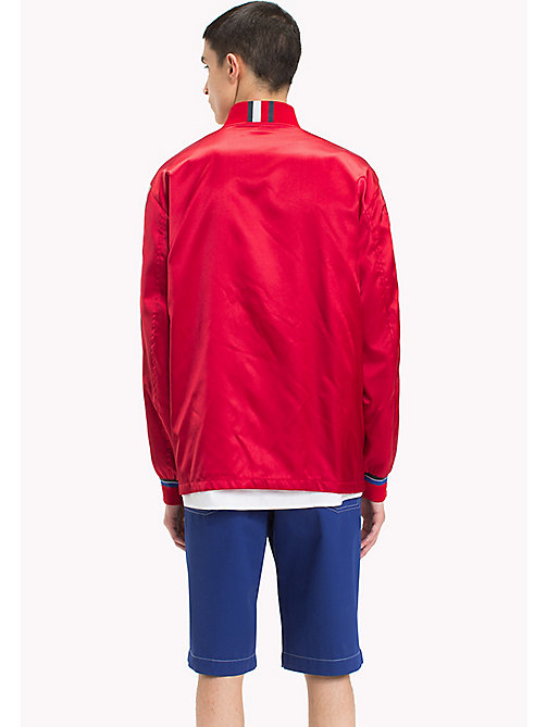 HILFIGER COLLECTION Satin Team Jacket - BARBADOS CHERRY - HILFIGER COLLECTION HILFIGER COLLECTION - detail image 1