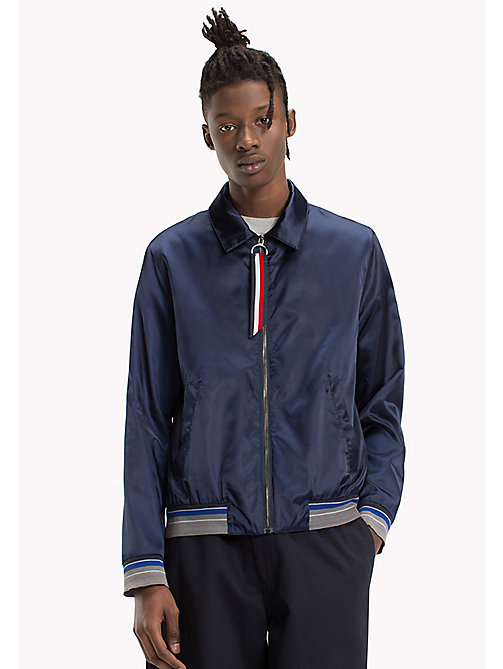 HILFIGER COLLECTION SATIN HARRINGTON JACKET - SKY CAPTAIN - HILFIGER COLLECTION HILFIGER COLLECTION - immagine principale
