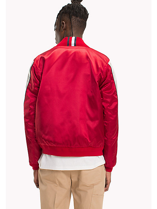 HILFIGER COLLECTION Bomber reversibile con nastro a righe - BARBADOS CHERRY - HILFIGER COLLECTION TOMMY'S PADDOCK - dettaglio immagine 1