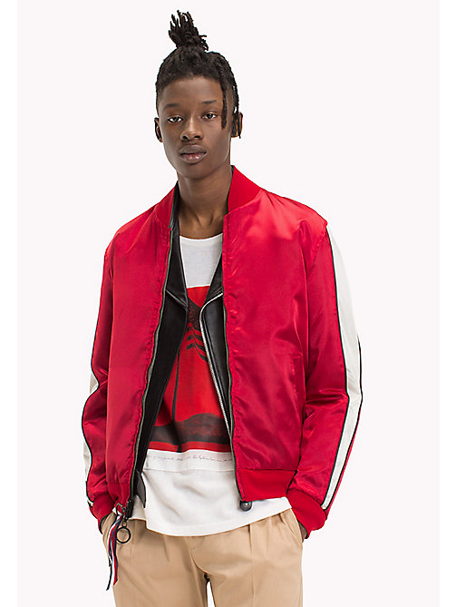 HILFIGER COLLECTION Bomber reversibile con nastro a righe - BARBADOS CHERRY - HILFIGER COLLECTION Hilfiger Collection - immagine principale