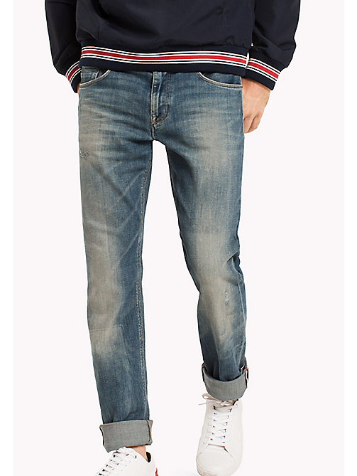 TOMMY HILFIGER Denton Straight Fit Jeans - EXESTER INDIGO - TOMMY HILFIGER Clothing - main image