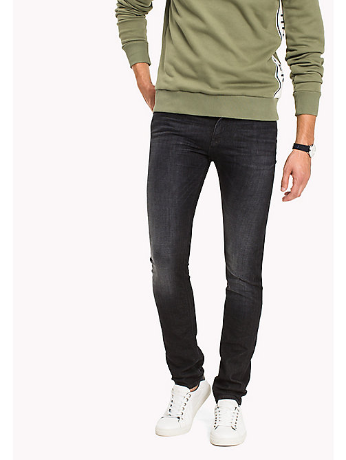 TOMMY HILFIGER Jean délavé coupe slim - WESTERLY BLACK - TOMMY HILFIGER Vetements - image principale